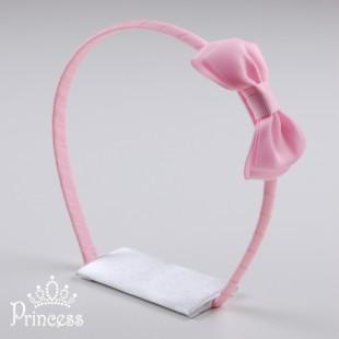 Фото: Нежно-розовый ободок для волос (артикул 1012-light pink) - изображение 2