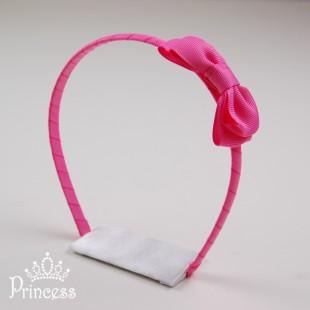 Фото: Яркий ободок с бантом (артикул 1012-pink)