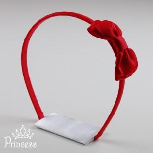 Фото: Ободок для волос красного цвета (артикул 1012-red) - изображение 2