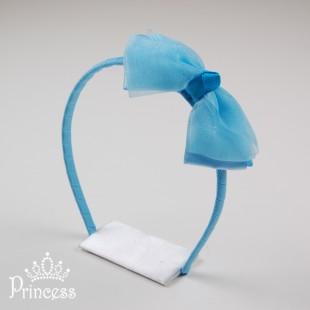 Фото: Голубой ободок для волос (артикул 1041-blue) - изображение 2