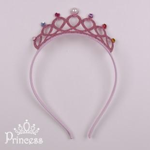 Фото: Блестящий обруч-корона (артикул 1113-light pink)