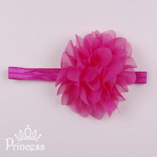 Фото: Нарядная детская повязка с цветком  (артикул 1114-pink) - изображение 2