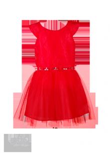 Фото: Вечернее платье для девочки с отделкой на поясе (артикул 3005-red) - изображение 2
