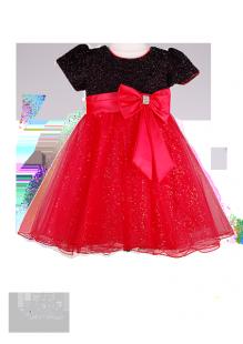 Вечернее детское платье с мерцающим лифом