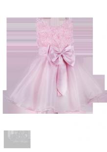 Платье для девочки с розами на лифе