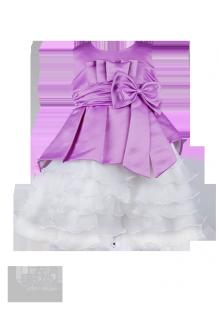 . Вечернее детское платье с многослойной юбкой