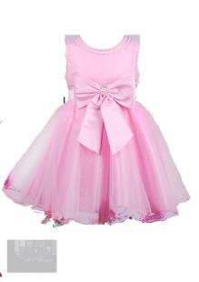 Фото: Детское выпускное платье со стразами на вырезе (артикул 3028-light pink) - изображение 2