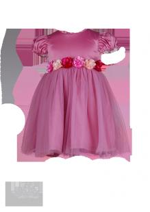 Фото: Нарядное платье для девочек светло-розового  цвета (артикул 3047-light pink) - изображение 2