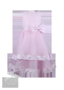 Фото: Светло-розовое детское платье с сердечками на лифе (артикул 3052-light pink)
