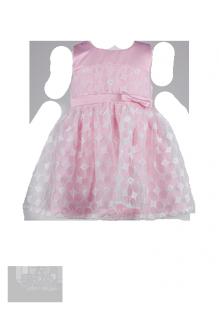 Красивое платье для девочки с белой вышивкой