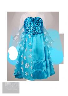 Фото: Новогоднее платье с яркими пайетками (артикул 3066-blue)