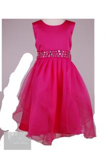 Фото: Красивое детское платье малинового цвета (артикул 3075-pink) - изображение 2