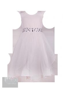 Фото: Белое нарядное платье для девочки (артикул 3075-white)