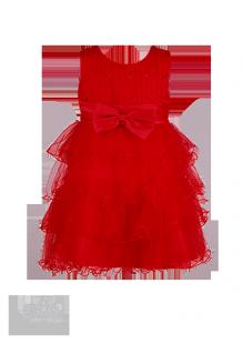 Фото: Яркое красное платье для юной леди с пышной юбкой из нежного фатина (артикул 3077-red1) - изображение 2