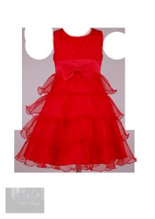 Фото: Ярко-красное детское платье с пышной юбкой (артикул 3077-red) - изображение 2
