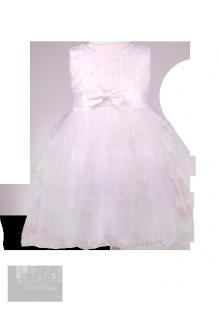 Фото: Праздничное платье для девочки с объемной фатиновой юбкой (артикул 3077-white) - изображение 2
