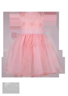 Нарядное детское платье изумительно-нежного персикового цвета с ажурным лифом