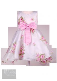 Фото: Нежное нарядное платье для девочки (артикул 3093-1flowers)