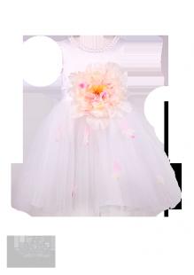 Фото: Праздничное детское платье белого цвета (артикул 3096-white) - изображение 2