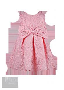 Фото: Нарядное платье для девочки изумительно-нежного персикового цвета из кружева (артикул 3100-light pink) - изображение 2