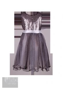 . Праздничное платье для девочки с воздушной фатиновой юбкой