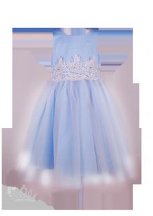 Фото: Нарядное платье для девочки небесного цвета (артикул 3105-light blue) - изображение 2