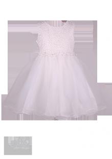 Белоснежное платье для девочки с вышивкой