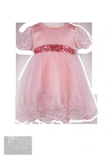 Детское платье с бусинами и кружевом