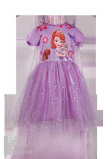 Фото: Пышное платье Софии Прекрасной для девочки (артикул 3133-violet)