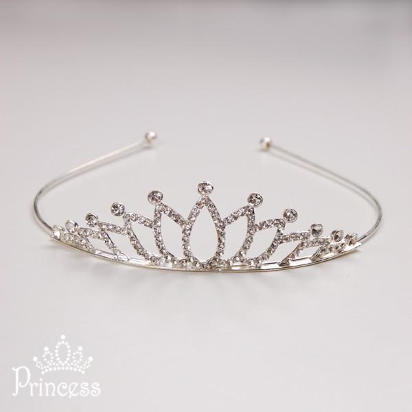 Фото: Детский обруч-корона со стразами (артикул 1003-silver)