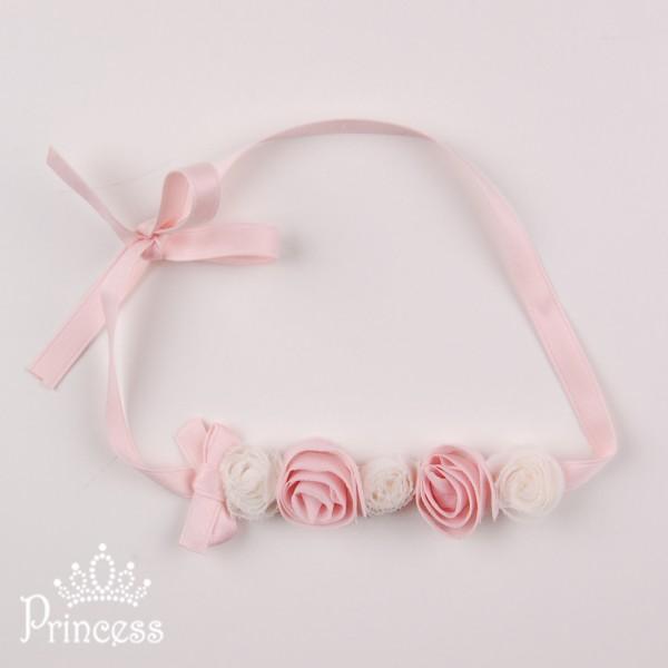 Фото: Повязка для волос с розочками (артикул 1029-light pink)