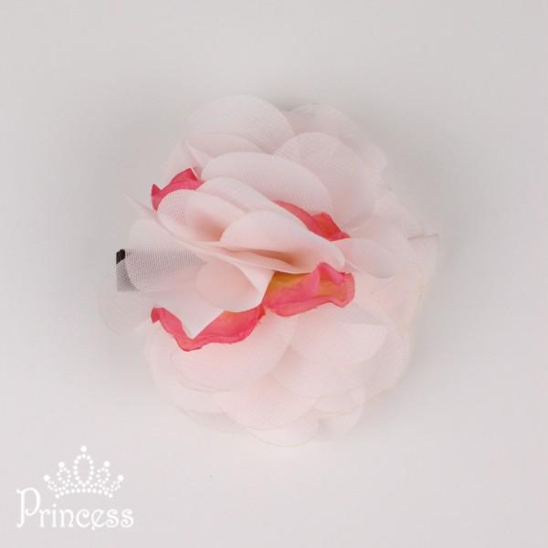 Фото: Заколка с цветком из шифона (артикул 1036-light pink)