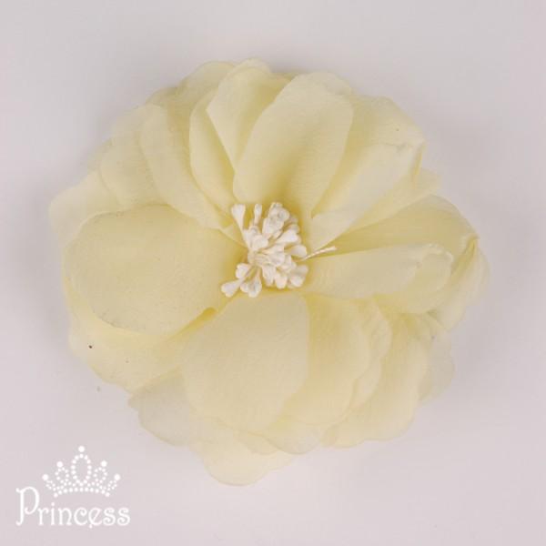 Фото: Заколка-цветок жёлтого цвета (артикул 1039-yellow)