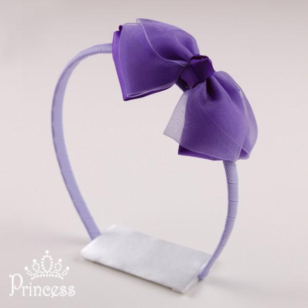 Фото: Обруч для волос с фиолетовым бантом (артикул 1041-violet )