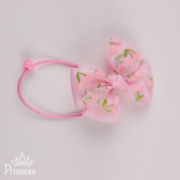 Фото: Резинка для волос с бантиком (артикул 1048-light pink)