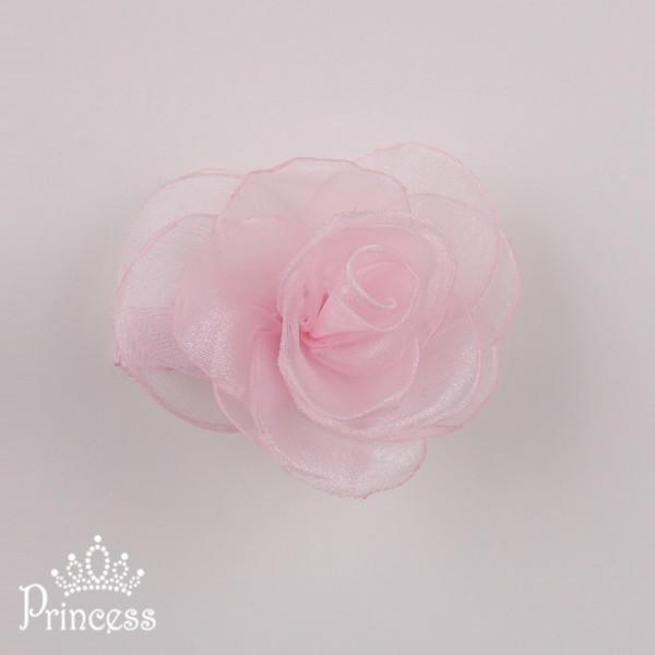 Фото: Заколка с цветком нежно-розового цвета (артикул 1056-light pink)