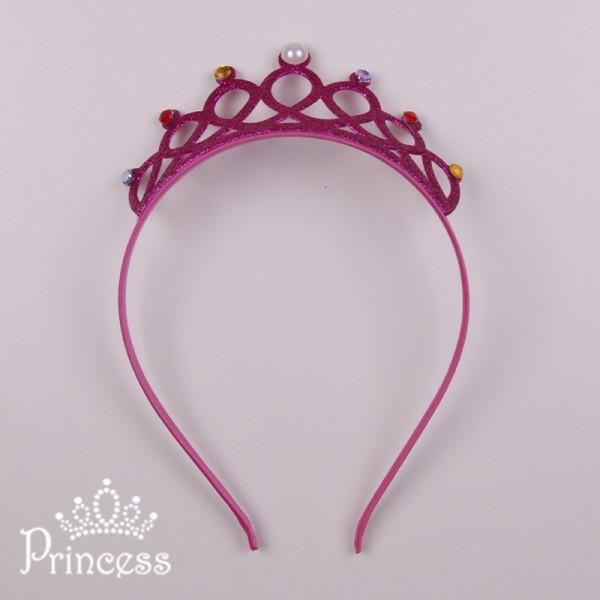 Фото: Детская корона-обруч в малиновом цвете (артикул 1113-pink)
