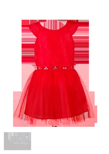 Фото: Вечернее платье для девочки с отделкой на поясе (артикул 3005-red)