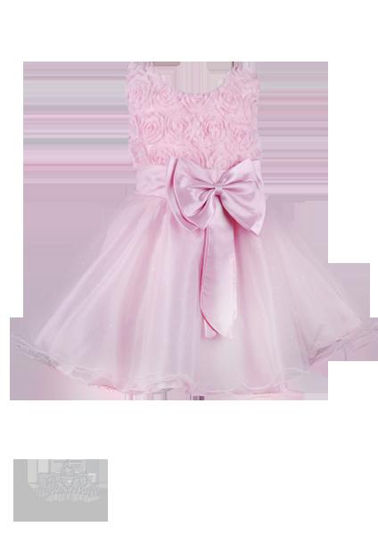 Фото: Платье для девочки с розами на лифе (артикул 3024-light pink)
