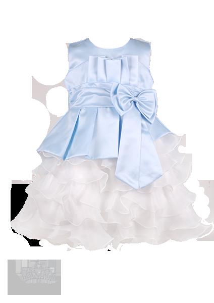 Фото: Платье детское на выпускной светло-голубого цвета (артикул 3026-light blue)