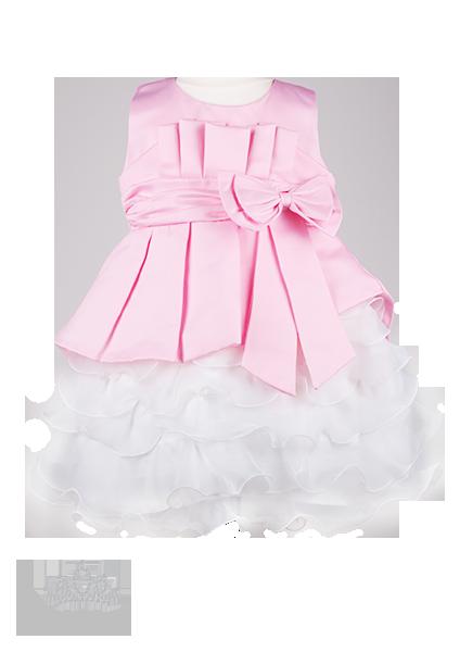 Фото: Нарядное платье для девочки с пышной юбкой (артикул 3026-light pink)