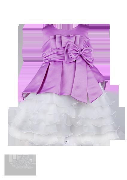 Фото: Вечернее детское платье с многослойной юбкой (артикул 3026-violet)