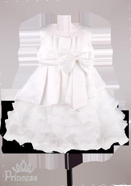 Фото: Пышное платье для девочек на свадьбу (артикул 3026-white)