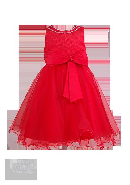 Фото: Красивое детское платье со стразами (артикул 3028-red)