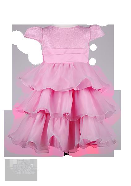 Фото: Платье для девочки с оригинальным узором в виде паутинки (артикул 3036-light pink)