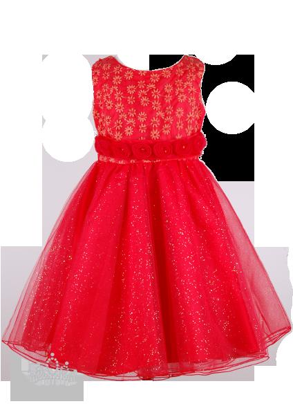 Фото: Платье для юной леди с вышивкой цветами на лифе (артикул 3039-red)