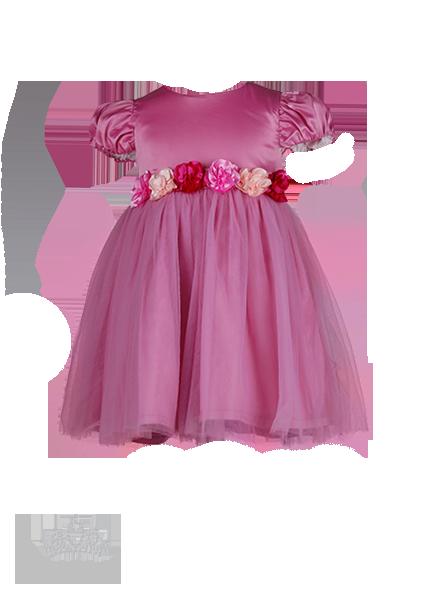 Фото: Нарядное платье для девочек светло-розового  цвета (артикул 3047-light pink)