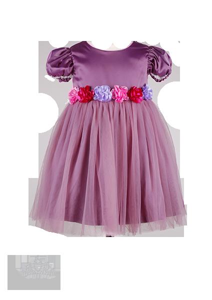 Фото: Детское вечернее платье с розами на лифе (артикул 3047-violet)
