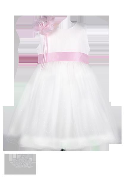 Фото: Пышное платье для маленькой принцессы (артикул 3035-white)