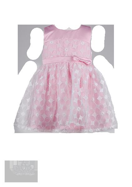 Фото: Красивое платье для девочки с белой вышивкой (артикул 3057-light pink)